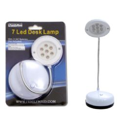 72 Units of DESK LAMP 7 HEAD LED WHITE CLR BC - Lamps and Lanterns
