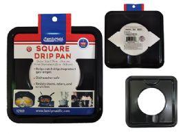 72 Units of Square Burner Drip Pan - Aluminum Pans