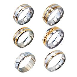 72 Units of STAINLESS STEEL RINGS - Rings