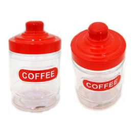 """72 Units of Coffee Jar 4.1dia*6.3""""h - Storage Holders and Organizers"""