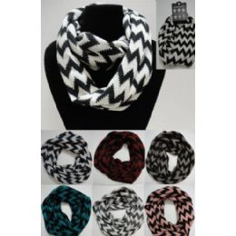 48 Units of Chevron Knitted Infinity Scarf - Womens Fashion Scarves
