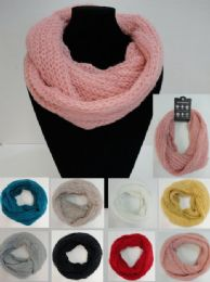 48 Units of Tight Knit/metallic Accent Knitted Infinity Scarf - Womens Fashion Scarves