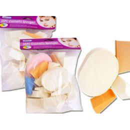 72 Units of 25 Piece Cosmetic Sponge - Cosmetics