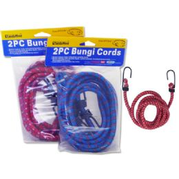 """96 Units of Bungi Cords 2pc Asst Color Size: 48"""" - Bungee Cords"""