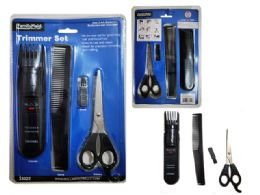 72 Units of 4 Piece Hair Trimmer Set - Personal Care Items