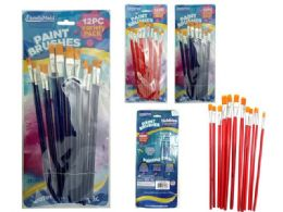 144 Units of 12pc Artist Paint Brushes - Paint and Supplies