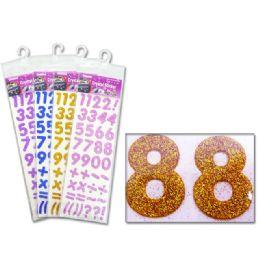 288 Units of Glitter Alphabet Sticker - Stickers