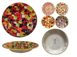 60 Units of Round Serving Bowl With Gold Trim - Serving Trays