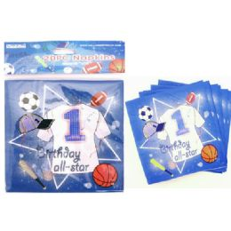 144 Units of Napkins 20 Piece Birthday - Party Paper Goods