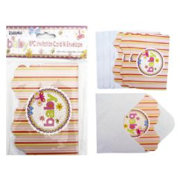 144 Units of Invitation Card 8pc Envelopes - Baby Shower