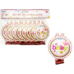 "144 Units of Blowout 8pc 7"" Packing 1/pc - Baby Shower"