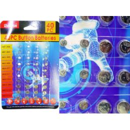 144 Units of 40 Piece Button Batteries - Batteries