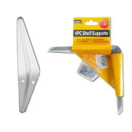 96 Units of 4pc White Shelf Supports - Hardware Products