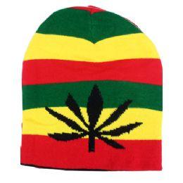 36 Units of Winter Beanie Hat In Rasta - Winter Beanie Hats