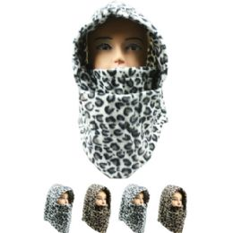 36 Units of Adult Winter Hat In Cheetah Print - Winter Hats