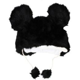 24 Units of Winter Animal Hat Black And White - Winter Animal Hats