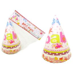"""96 Units of 8 Piece ' Baby"""" Party Hat - Baby Shower"""