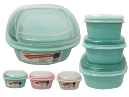 48 Units of 3 Piece Square Food Containers - Storage Holders and Organizers
