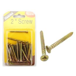96 Units of 2 Inch Hardware Screw - Drills and Bits