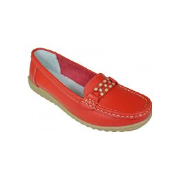 12 Units of Ladies Everyday Flats In Red - Women's Flats
