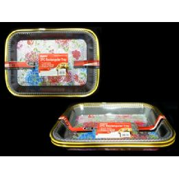 72 Units of Tray 2pc RectANGLE - Serving Trays