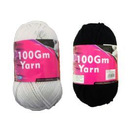 72 Units of Yarn Black/ White 100gm - Sewing Supplies