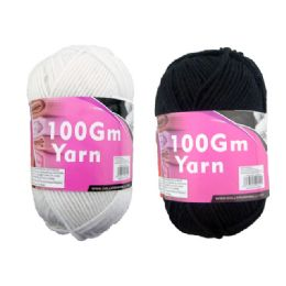 72 Units of Yarn Black White 100gml - Sewing Supplies