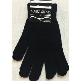 36 Units of Unisex Black Magic Gloves Winter Gloves - Knitted Stretch Gloves
