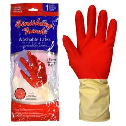 72 Units of Latex Glove HD 2 Tone Large - Working Gloves
