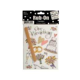 144 Units of Wedding Rub-On Transfers - Scrapbook Supplies