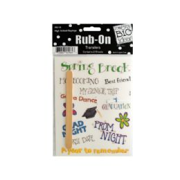 144 Units of High School Sayings Rub-On Transfers - Scrapbook Supplies