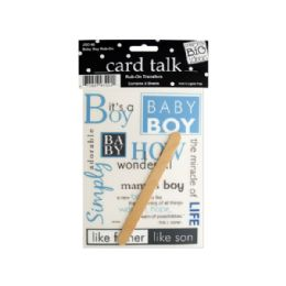 144 Units of Baby Boy Rub-On Transfers - Scrapbook Supplies