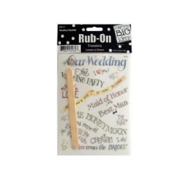 144 Units of Wedding Sayings Rub-On Transfers - Scrapbook Supplies
