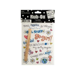 144 Units of Girls Only Sayings Rub-On Transfers - Scrapbook Supplies