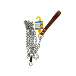 12 Units of Chain Dog Leash with Durable Handle - Pet Collars and Leashes