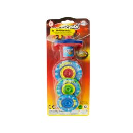 36 Units of 3-Layer Bouncing Top Spinner Toy - Novelty Toys