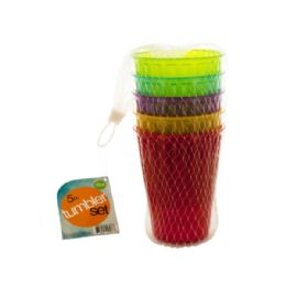24 Units of Medium Plastic Tumbler Set - Plastic Drinkware