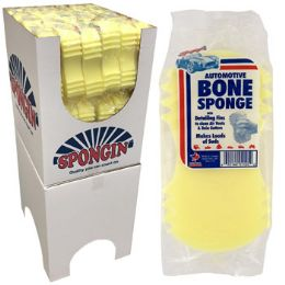 108 Units of Yellow Bone Shape Auto Sponge - Auto Cleaning Supplies