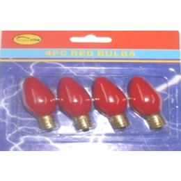 144 Units of 4pc Night Light Bulbs Red - Lightbulbs