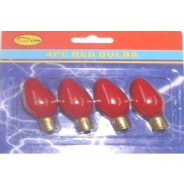 144 Units of 4pc Night Light Bulbs Red - Lightbulbs