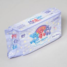 48 Units of Care Bears Baby Wipes 80 Sheets Unsented W/aloe & Vitamin E - Baby Accessories