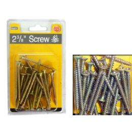 "72 Units of Screw 2 3/8"" 160g Dou Blister - Drills and Bits"