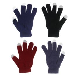 72 Units of GLOVE ( TOUCH SCREEN GLOVES ) ASSORTED COLOR - Conductive Texting Gloves