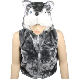 12 Units of Kids Cute Animal Vest With Animal Hat - Kids Vest