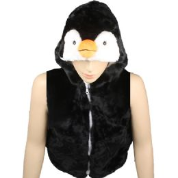 12 Units of Kids Cute Penguin Animal Vest With Penguin Hat - Kids Vest