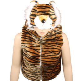 12 Units of Kids Tiger Jacket With Hat - Kids Vest