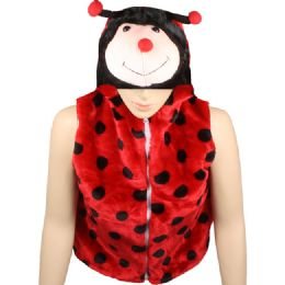 12 Units of Kids Lady bug Jacket With Hat - Kids Vest