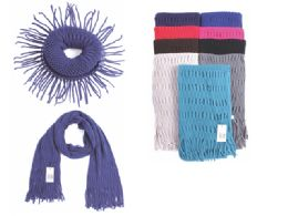 72 Units of LADIES INFINITE SCARF ASSORTED COLORS - Winter Scarves