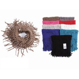72 Units of Ladies Fashion Infinity Scarf Assorted Colors - Winter Scarves
