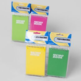72 Units of 60 Sheet 3x5 Memo Book - Memo Holders and Magnets